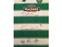 Signed Celtic football top