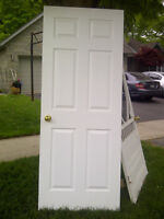 Wood interior door (6 panel, pre-hung-includes knobs & hinges)