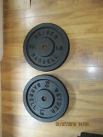 Pair of 50 lbs weider plates
