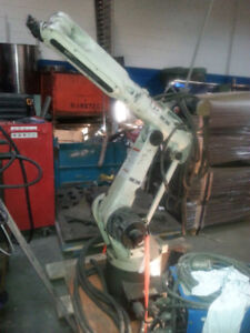 MILLER OTC WELDING ROBOT C2 CONTRO WITH MILLER WELDER AND FEEDER