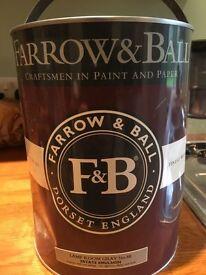 Farrow & Ball lamp shade grey paint