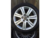 "Audi A4 A6 alloy wheels 17 "" with tyres"