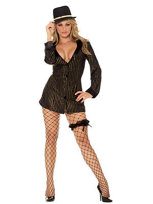 Gold Digger Gangster 4pc 1X/2X 16 18 20 UK Fancy Dress Hen Night Mobster