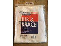 "Men's, White Decorators Bib & Brace Size: 40"" Waist *Brand New*"