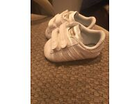 Baby Adidas Superstar Shoes (size 0)