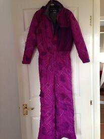 Girls ski / snow suit age 9-10