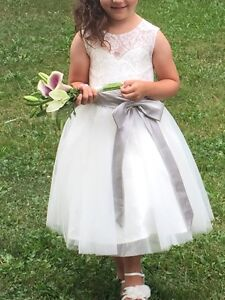 Flower girl dress and sandals