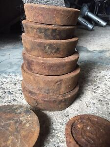Antique Grain scale - weights