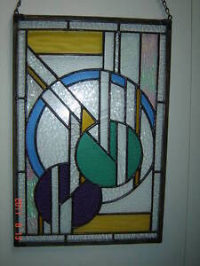 "Stained Glass Art-Deco panel-11"" x 16""--NEW Kingston Kingston Area image 3"