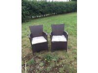 Rattan Flat Weave Chairs (Garden, Patio, Pub, Restaurant & Events)