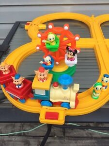 Vintage 1980's Disney Battery operated train set