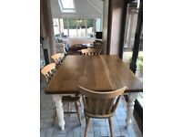 Kitchen Dinning Table 5ft x 4ft and 5 chairs