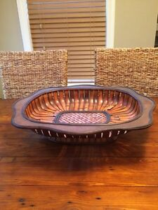 PIER ONE wood decor tray/bowl