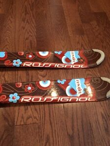 120 cm Rossignol fun girls skis hearts and flowers