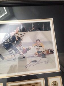 Signed Jerry Cheevers vintage picture