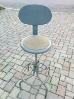 STEEL SHOP STOOL