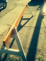 10' construction barricades. $35.00 ready for paint