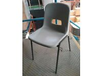 Grey Stacking School Chair