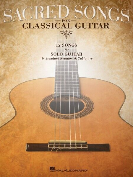 Sacred Songs for Classical Guitar Sheet Music Standard Notation & Tab  000702426