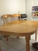 Moving Sales! Dining table set with 6 chairs
