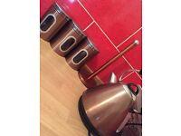 Copper kitchen accessories