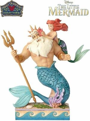 Disney Traditions Little Mermaid Ariel and Triton Daddy's Little Princess Statue