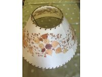 Handcrafted lampshade with real dried flowers