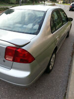2002 Honda Civic Sedan includes Winter Tires on Rims !!
