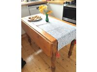 Gorgeous drop-leaf wooden table