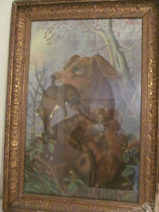 Early 1900's Framed Pastel Drawing Victorian? Painting Picture London Ontario image 1