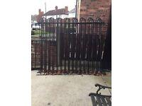 Iron fence panels