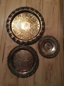 Silverplated plates