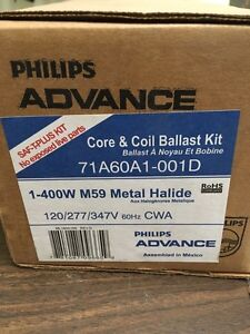 2x. Metal Halide core and coil ballast New in box
