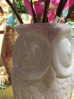KIDS ROOM PINK TALL Owl ShapeD Vase/ Gift