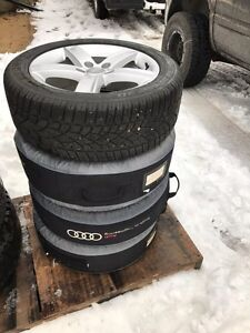 Audi rims and winter tires