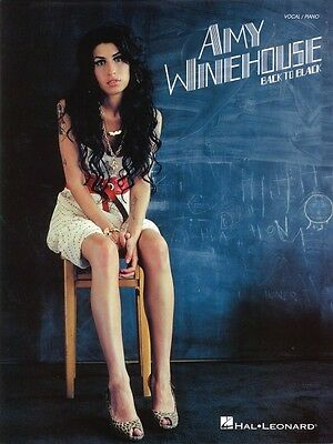 Amy Winehouse Back to Black Sheet Music Vocal Piano Book NEW 000306905 on Rummage