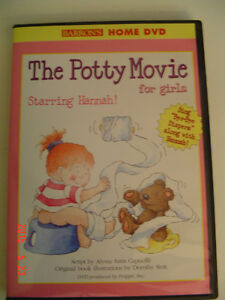 SET OF POTTY TRAINING AIDS - POTTY BOOK & DISNEY DVD FOR GIRLS