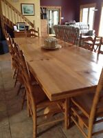 Harvest Table & 6 chairs
