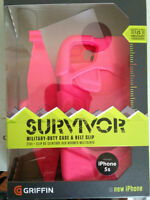 "Griffin ""Survivor"" Military Duty Case for iphone 5S (Hot Pink)"