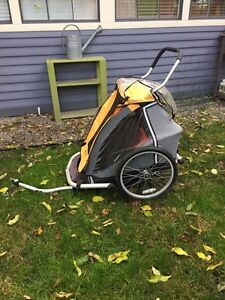MEC Double stroller with Bike Attachment