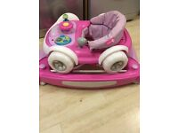 MyChild Coupe 2 In 1 Baby Walker Rocker Pink