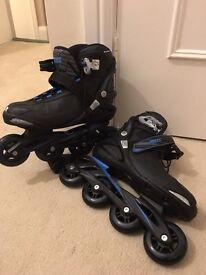 Men's Roces inline skates Black UK8 used once