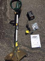 Yardworks cordless grass trimmer (weed whacker)