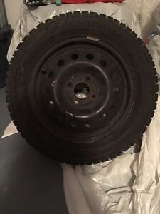 15 inch hankook snow tires with rims