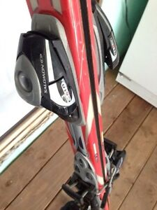 Dynastar downhill skis, saloman bindings