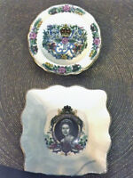 Two Queen Elizabeth II Commemorative China Dishes