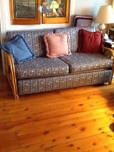 Solid Rattan Couch Peterborough Peterborough Area image 1