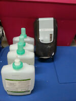 NEW!! ZEP HAND DISPENSER WITH 3 FOAMING SOAP REFILLS