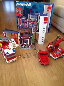 Playmobil Fire Station & Fire Engine