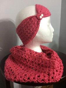 Various crocheted hats, scarves, headbands, cowls Kitchener / Waterloo Kitchener Area image 3
